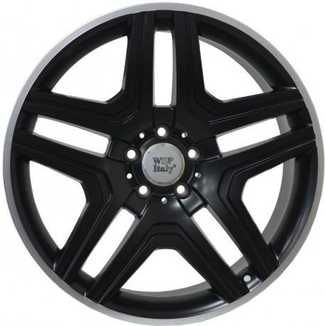 Mercedes Nero Dull Black Rim Polished