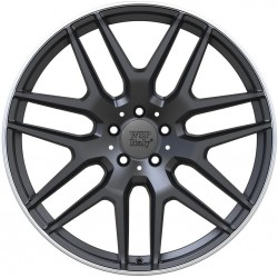 Mercedes Eris Dull Black Rim Polished