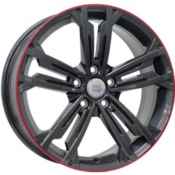 Volkswagen Naxos Anthracite Lip Red