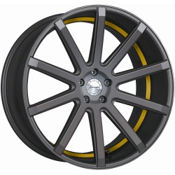 Corspeed Deville Matt Gunmetal Trim Yellow