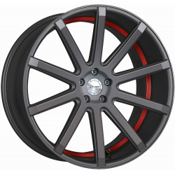 Corspeed Deville Matt Gunmetal Trim Red