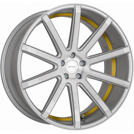 Corspeed Deville Silver Brushed Surface Trim Yellow