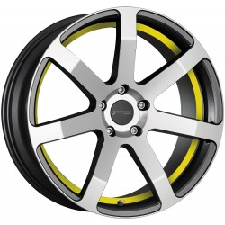Corspeed Challenge Higloss Gunmetal Polished Trim Yellow