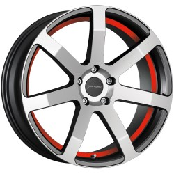 Corspeed Challenge Higloss Gunmetal Polished Trim Red